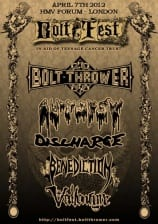 Bolt Thrower Cartel Concierto 25 Aniversario