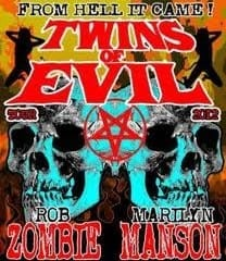 Rob Zombie Marilyn Manson, Twins Of Evil Tour