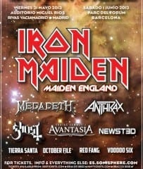 Sonisphere 2013 Spain Cartel