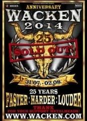 Wacken Open Air 2014 Sold Out